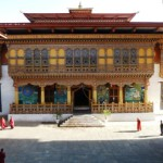 Interior del dzong en Punakha
