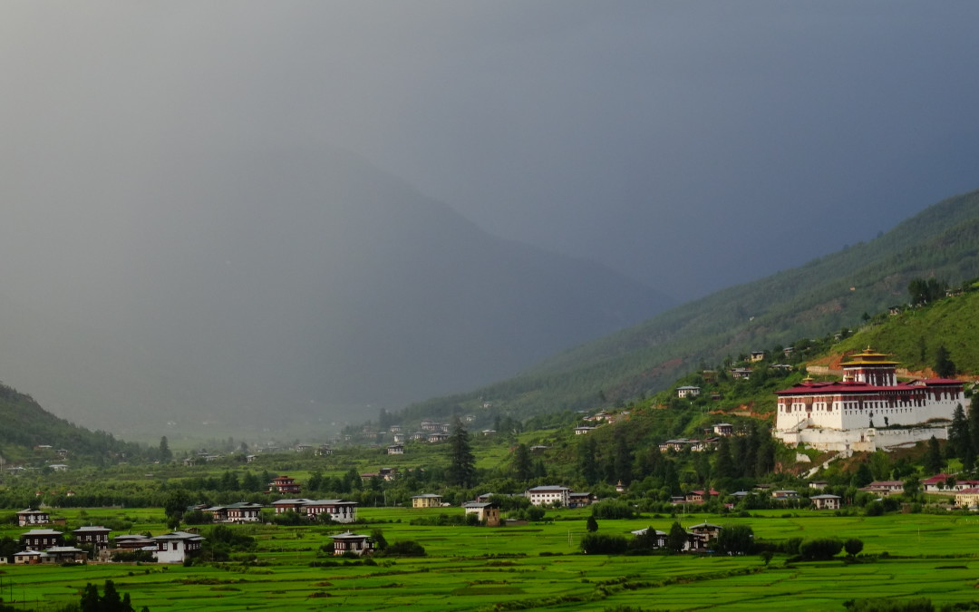 Paro dzong and valley